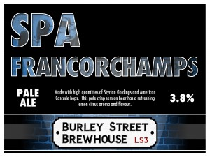 SPA FRANCORCHAMPS, Pale - Burley Street Brewhouse